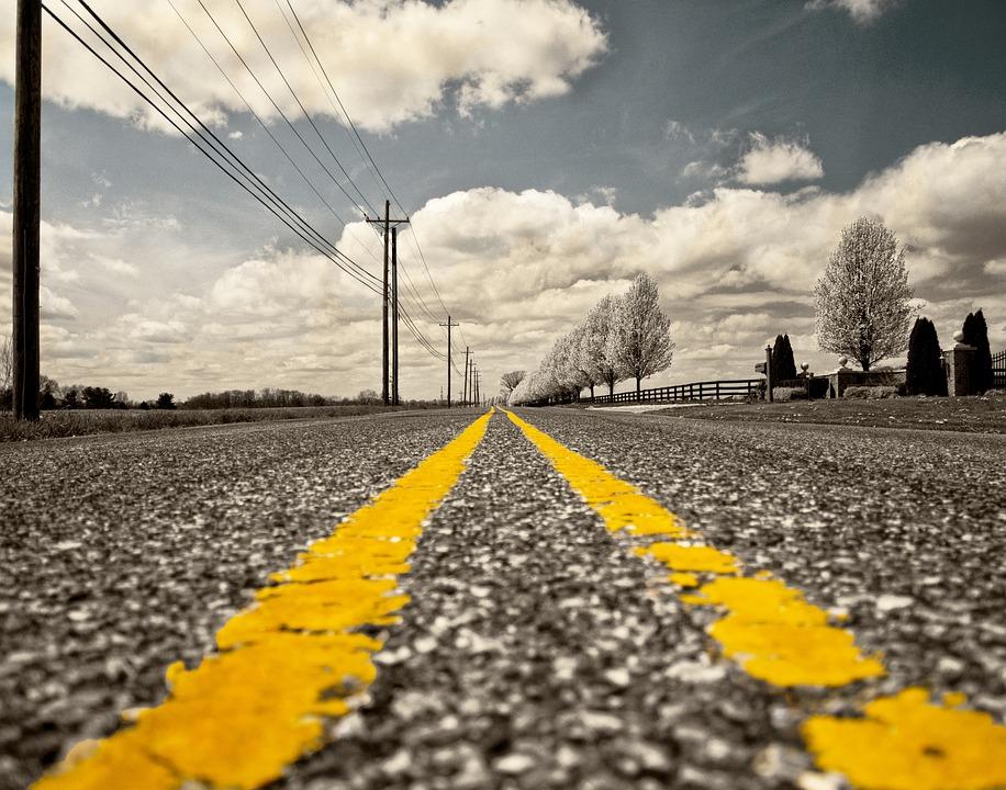 Jalan, Menandai Jalan, Km, Perjalanan, Overhead Kabel