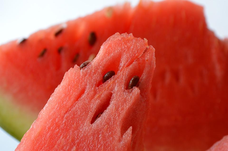Vodní Meloun, Ovoce, Červená, Osvěžující, Svačinka