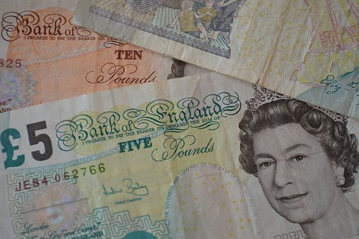British Pounds, Banknotes, Bills