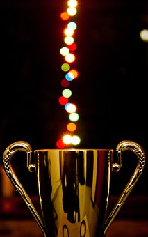 Award Cup Lights Bokeh Trophy Prize Achiev