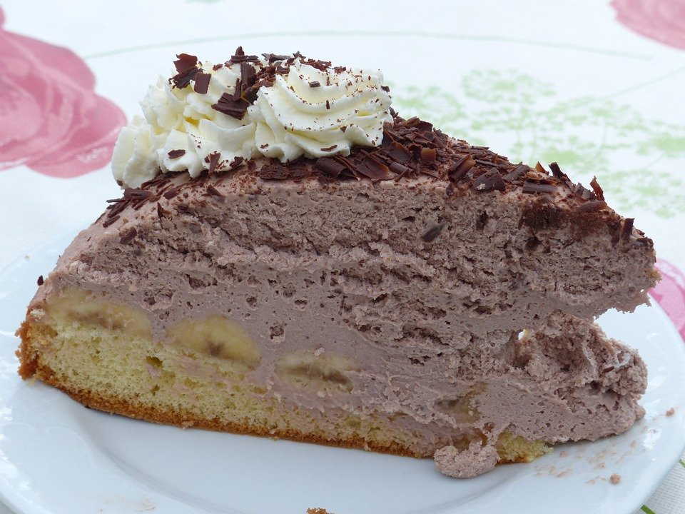 Kage Chokoladekage Banan Gratis Foto På Pixabay