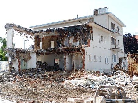 Demolition, Building Rubble, Crash, Site