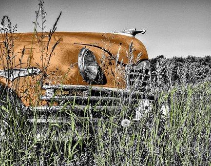 Oldtimer, Car, Old, Vintage, Headlight