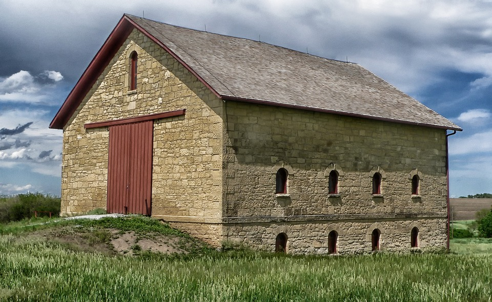 Free Photo Nebraska Farm Rural Barn Stone Free