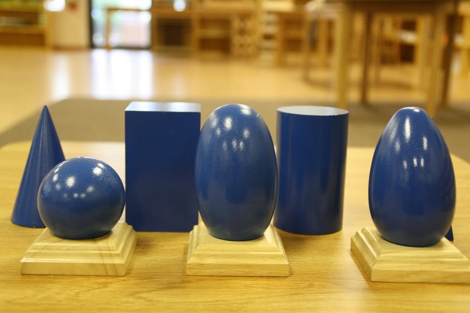 Sólidos Geométricos, Montessori, Formas