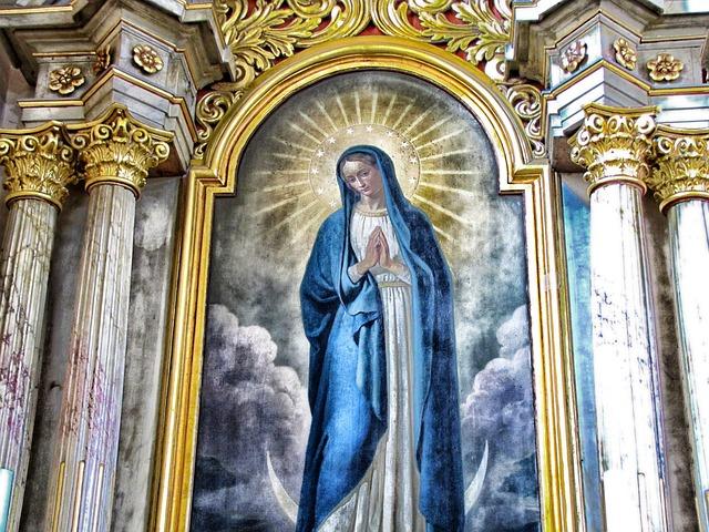教会, インテリア, 絵画, 列, 聖母マリア, 信仰, 宗教, Hdr