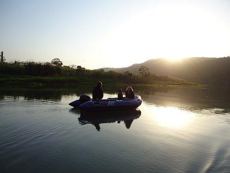 Schlauchboot, Boot, Ausflug, Reise