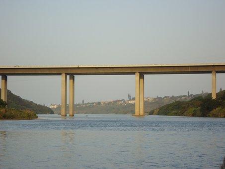 Brücke, Wasser, Fluss, Blau, Im Freien