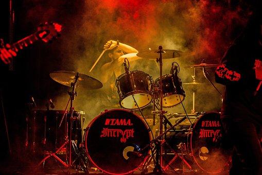 Drummer, Music, Set, Drum, Kit, Band