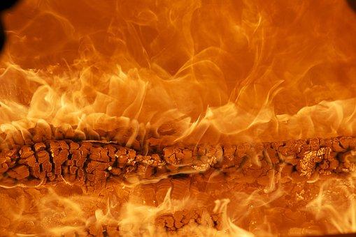 Feuer, Holzbrand, Flammen, Brennen
