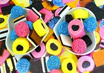 candy, licorice, colors
