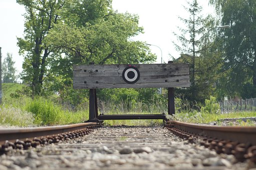 Buffer Stop, End Of Track, Rails, Track