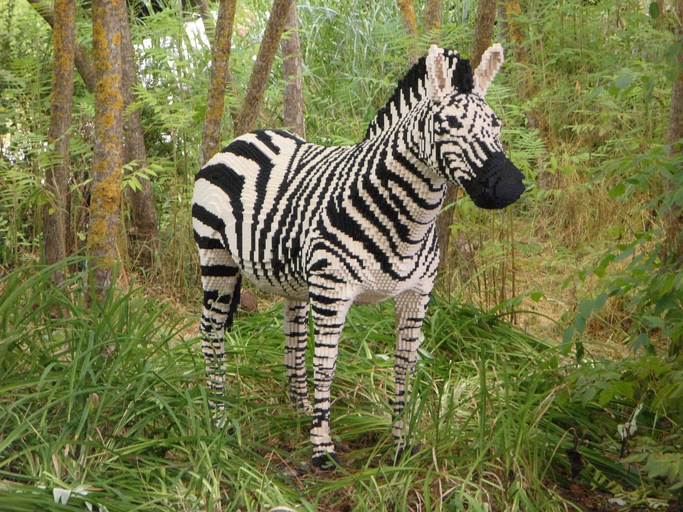 Free Photo Legoland Replica Sculpture Zebra Free