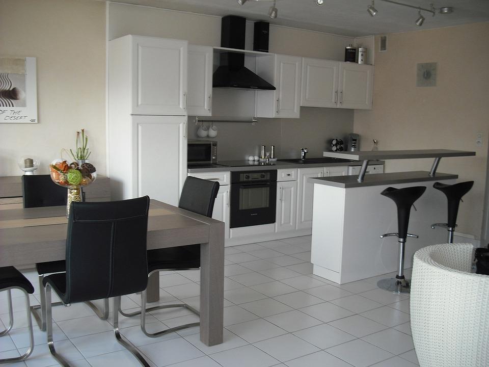 Free photo interior furniture table kitchen free - Muebles para cocina economica ...