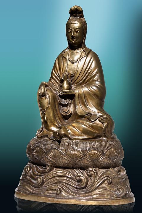 Kunst, Brons, Stemmen, Azië, Guanyin, Guānshiyīn, China