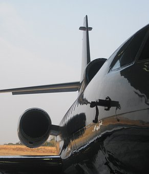 Business Jet, Shiny, Reflection