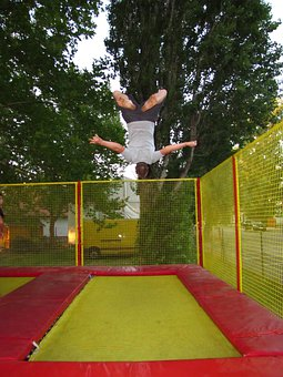 Sports, Trampoline, Bounce Man, Go To