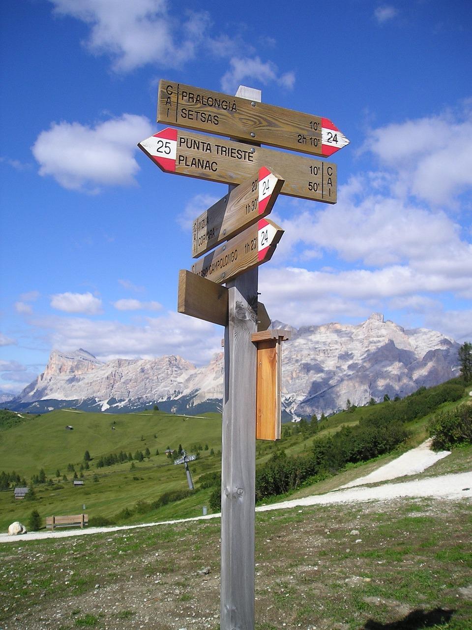 Wegweiser Orientierung Wanderwege - Kostenloses Foto auf Pixabay