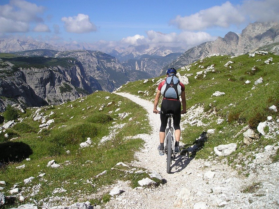 Mountain Bike, Bike, Transalp, Cyclists, Singletrail