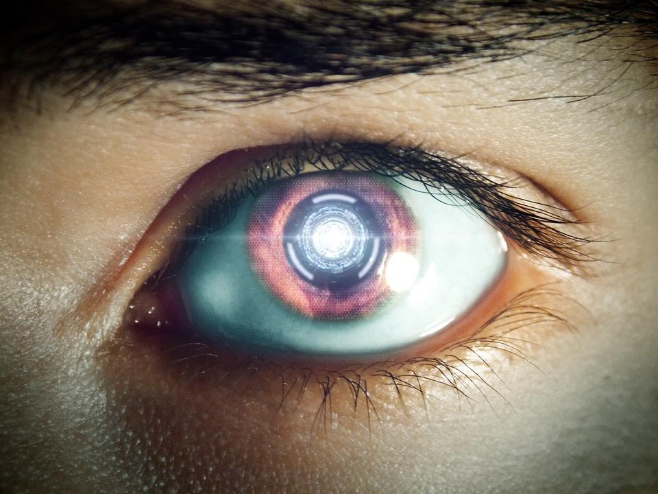 Futuro, Occhio, Occhio Di Robot, Macchina, Futuristico