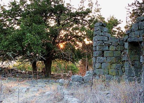 Ramtaniya, Golan Höhen, Israel, Ruinen