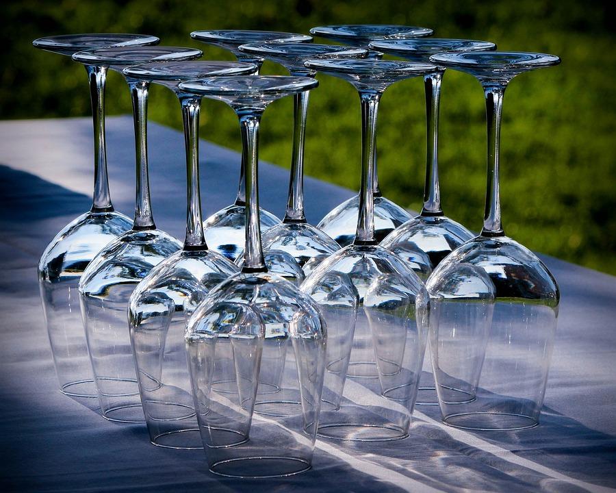 Чаши За Вино, Стъклени Чаши Със Столче, Кристал