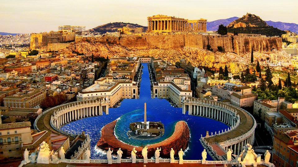 Petersplatsen, Underwater, Aten, Akropolis