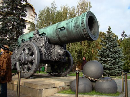 Tsar Cannon, The Kremlin, Moscow, Russia