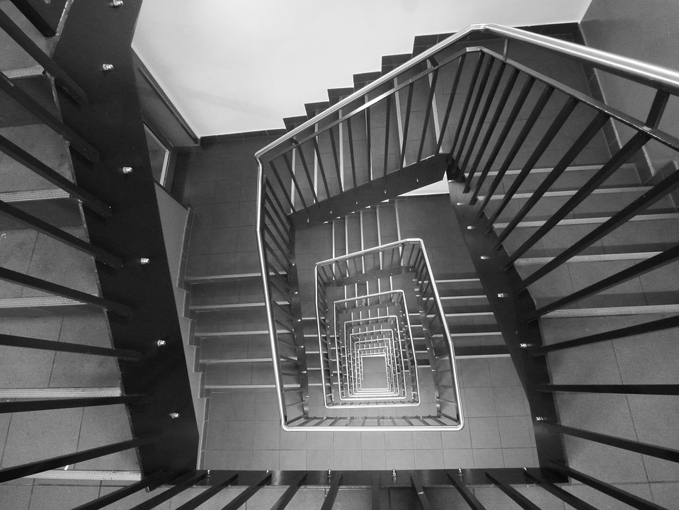 staircase black and white stairs free photo on pixabay