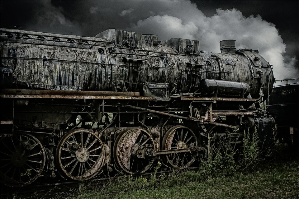Train, Railway, Old, Abandoned, Outdated, Railroad