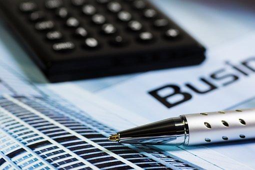 電卓, オフィス, ペン, ソーラー電卓, カウント, 計算する方法, 計算