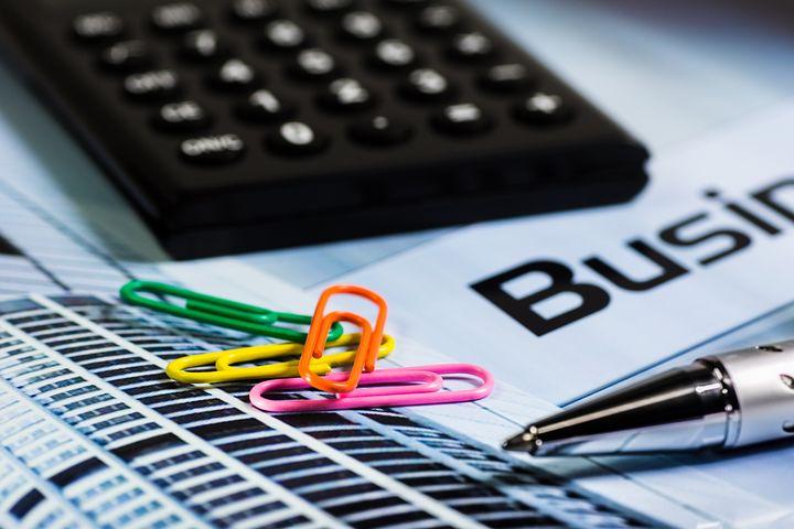 Calculator, Paperclip, Ballpoint Pen
