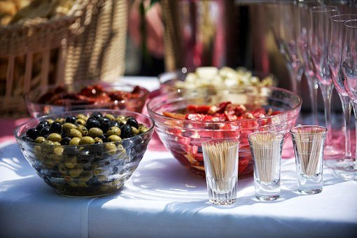 Catering, Buffet, Food, Olives