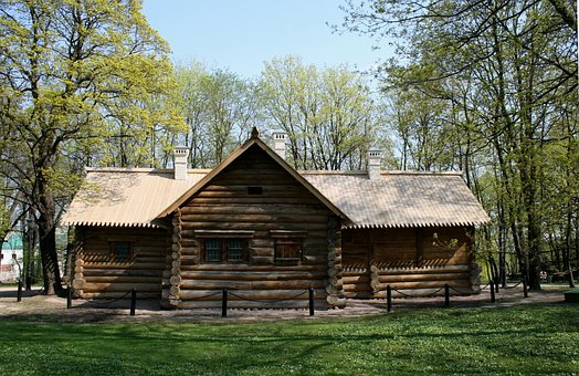 Log Cabin, Wood Cabin, Hut, Brown
