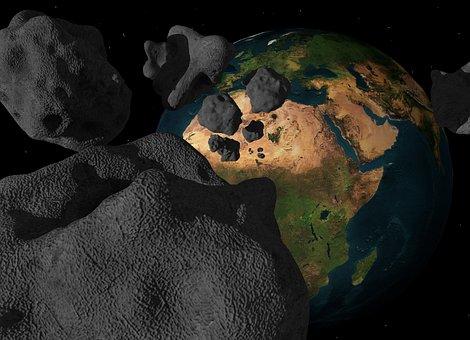 Asteroid, Meteorit, Einschlag, Meteor
