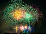 program fireworks, światło, festiwal