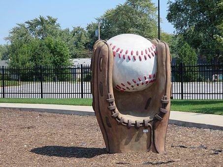 棒球, 手套, 棒球手套, 雕塑, 体育, 球, 运动, 游戏, 娱乐, 竞争