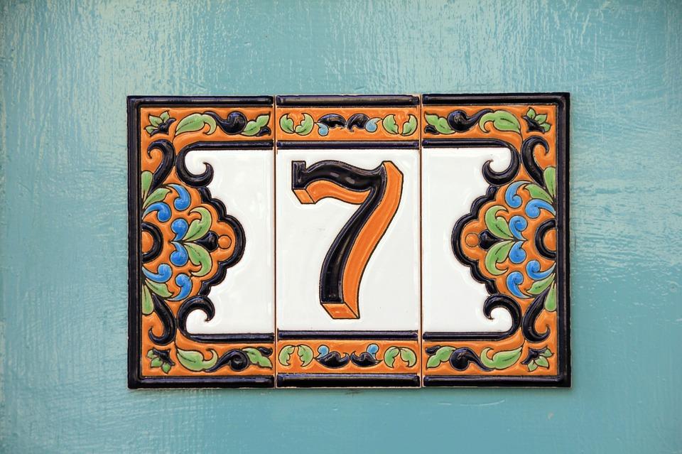 番号, 7, 家の番号, タイル, パターン