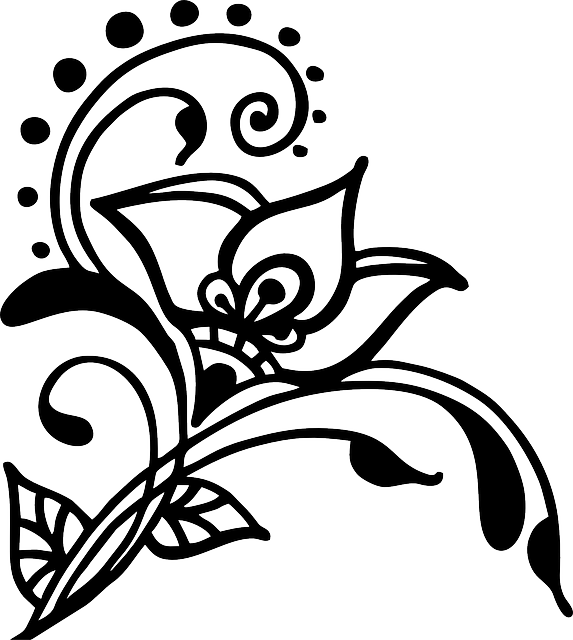 Free Vector Graphic Flower Henna Vines Swirl  Free