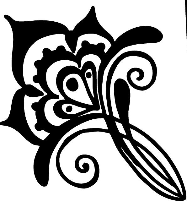 flower henna vines  u00b7 free vector graphic on pixabay
