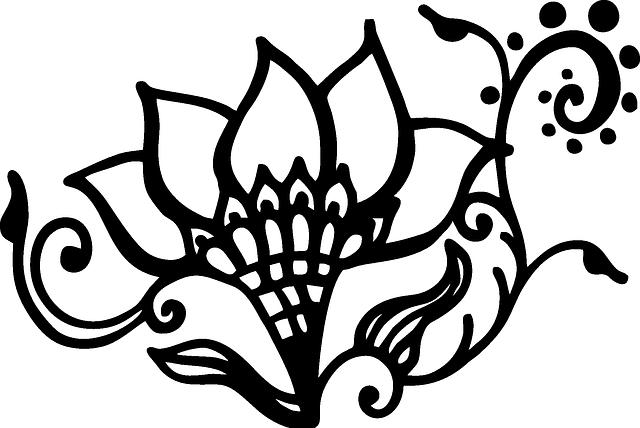 free vector graphic henna flower swirl artwork free