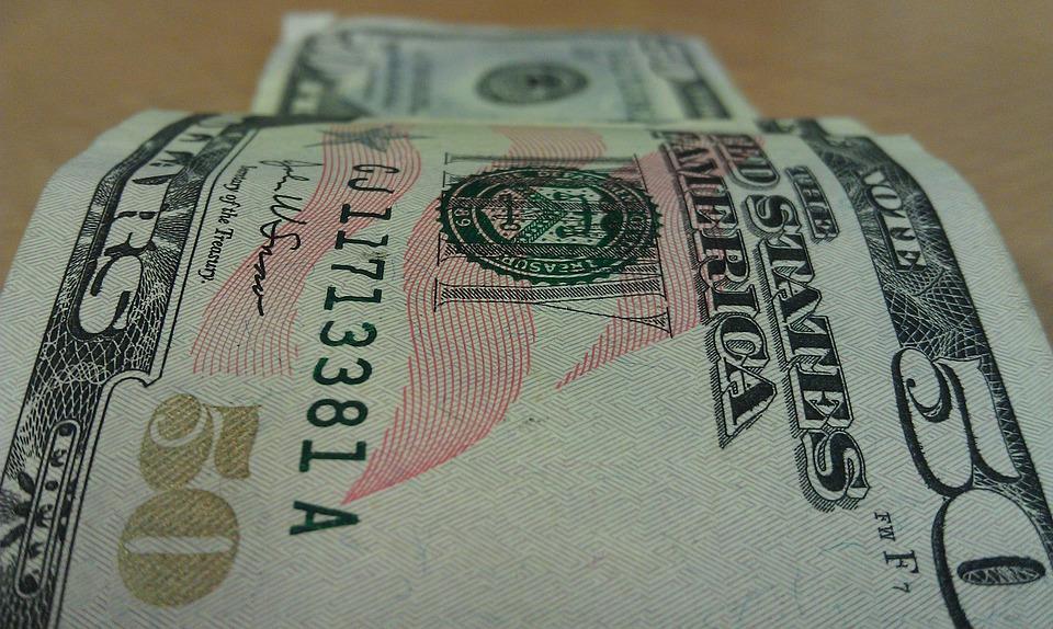 お金, 通貨, 50, ドル, 法案, ファイナンス, 富, 成功