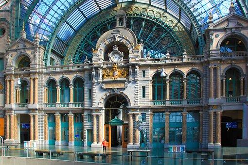 Antwerpen, Treinstation, België, Station