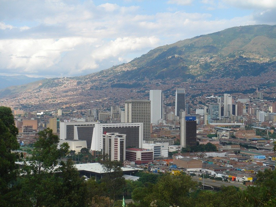 Medellin, Colombia, Panoramic, Architecture, Skyline