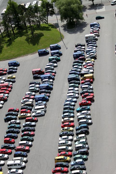 Autos, Parking, Park, Zobacz, Poza, Drogi