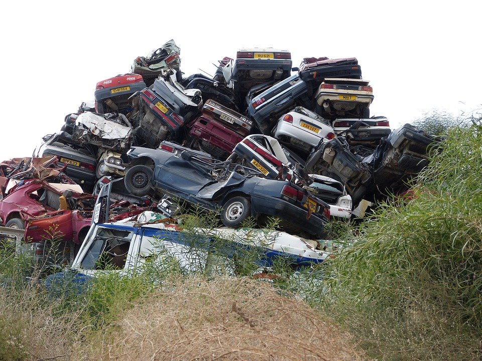 Cars Cemetry, Recycle, Scrap Metal, Rust, Iron, Vehicle