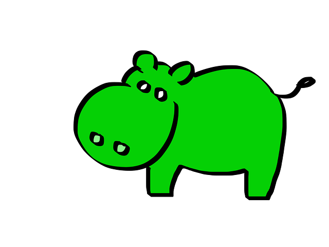 Green Hippo Cartoon 183 Free Image On Pixabay