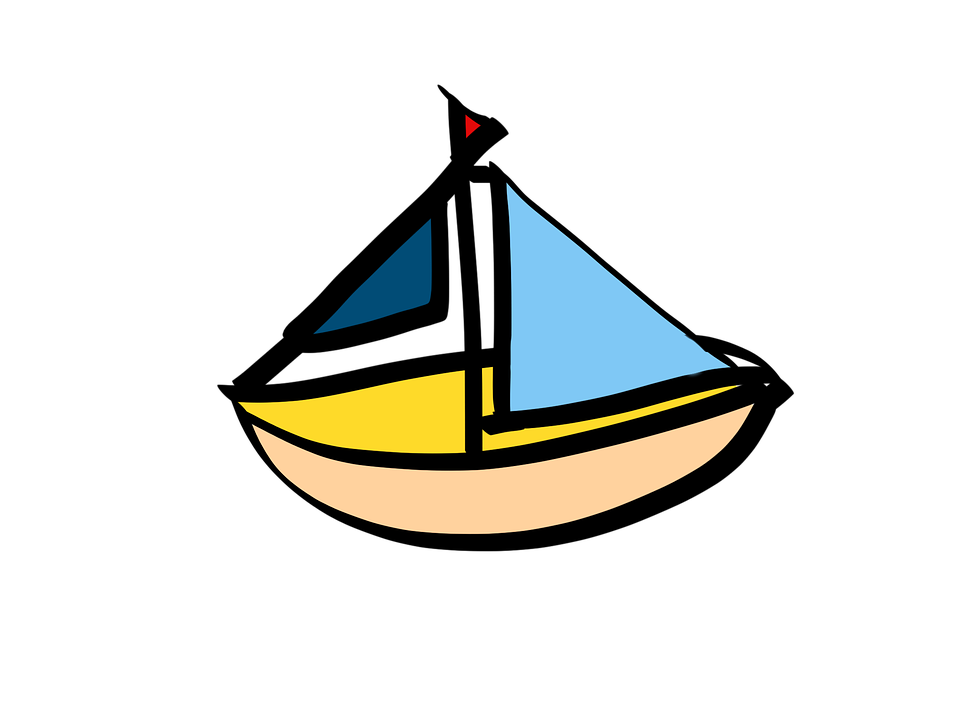 Sailing Boat, Cartoon, Ship, Boot