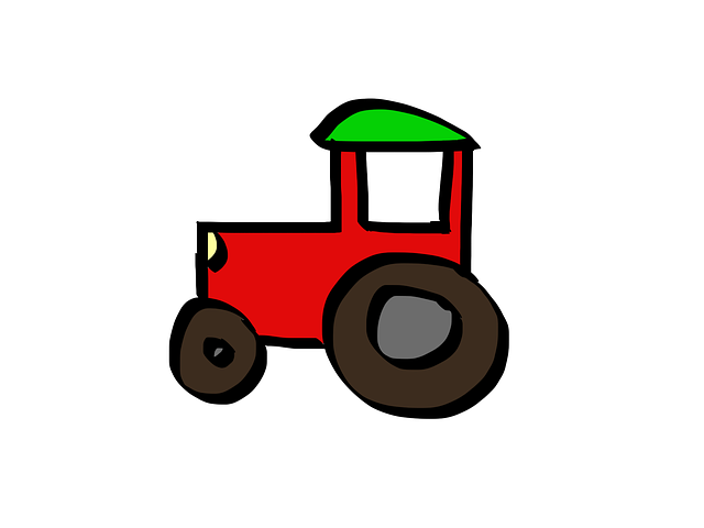 Up The Tractor Green Tractor With Bucket Cartoon : Tractor cartoon · free image on pixabay