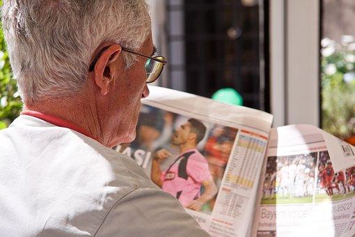 Newspaper, Read, Man, Pensioners, Paper